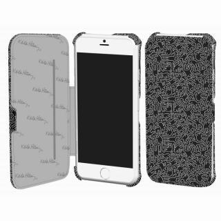 キース・へリング コレクション PUレザー手帳型ケース ピープル/ブラック x ホワイト iPhone 6ケース