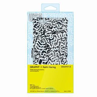 【iPhone6ケース】キース・へリング コレクション PUレザー手帳型ケース カオス/ブラック x ホワイト iPhone 6ケース_2