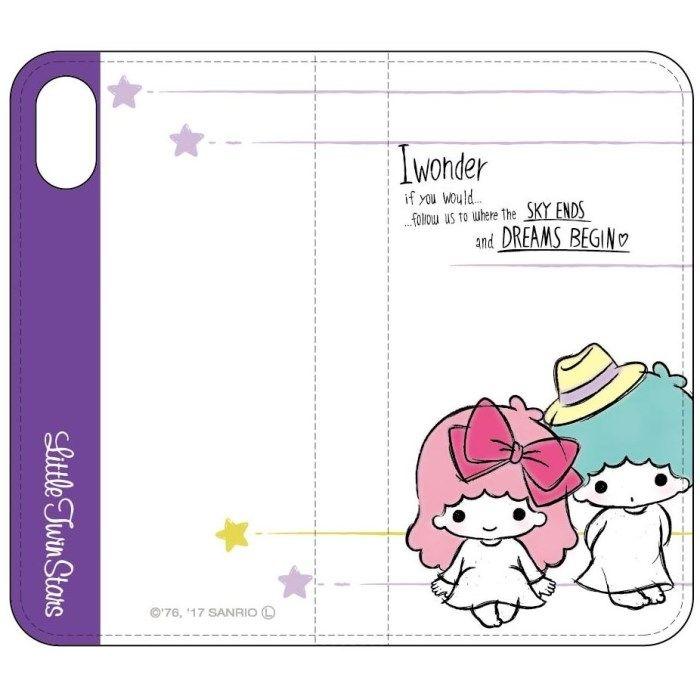 iPhone X ケース サンリオキャラクターズ 手帳型ケース キキ&ララ/Aタイプ iPhone X_0