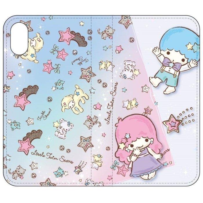 iPhone X ケース サンリオキャラクターズ 手帳型ケース キキ&ララ/Bタイプ iPhone X_0