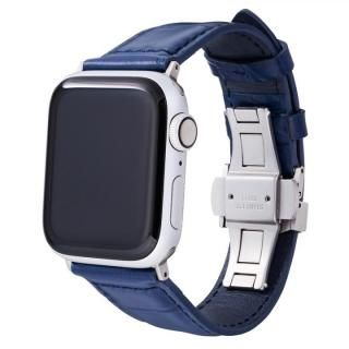 GRAMAS Croco Embossed Genuine Leather Watchband 44/42mm Navy 【11月上旬】
