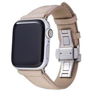 GRAMAS Croco Embossed Genuine Leather Watchband 44/42mm Greige 【11月上旬】