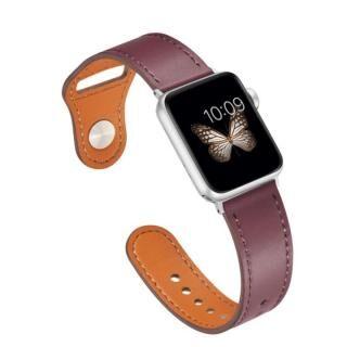 ピンバックル レザー Lite Apple Watch 42/44mm ワインレッド