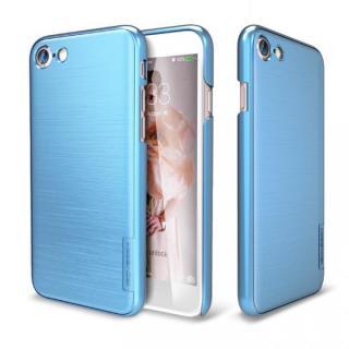 メタルライン風ハードケース META SLIM ディープブルー iPhone 7
