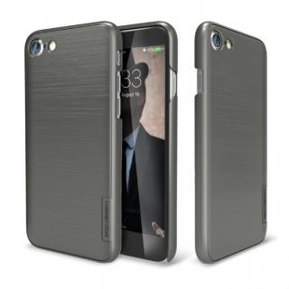 メタルライン風ハードケース META SLIM チタンシルバー iPhone 7