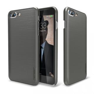 メタルライン風ハードケース META SLIM チタンシルバー iPhone 7 Plus