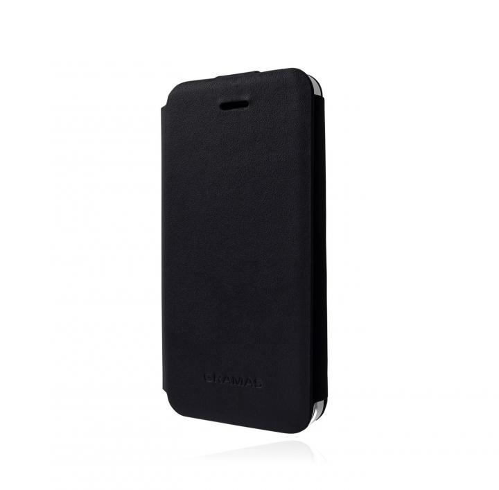 スタイリッシュな本革 GRAMAS Leather Case LC413 ブラック iPhone 5s/5 手帳型ケース