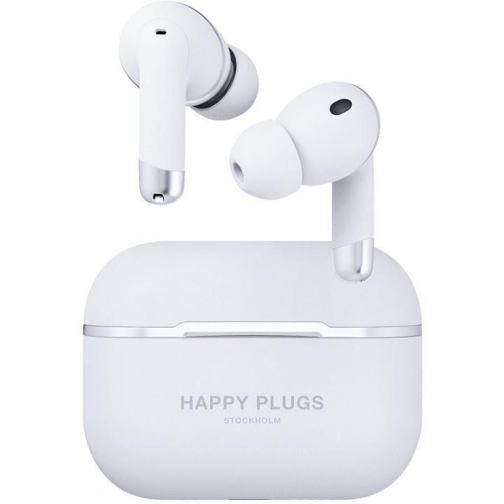 Happy Plugs AIR 1 ANCノイズキャンセリング 完全ワイヤレスイヤホン ホワイト_0