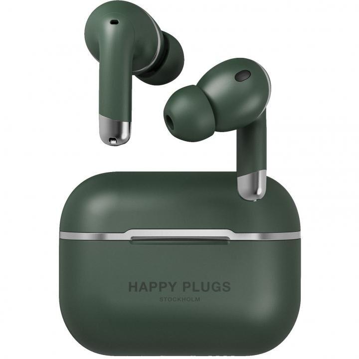 Happy Plugs AIR 1 ANCノイズキャンセリング 完全ワイヤレスイヤホン グリーン_0