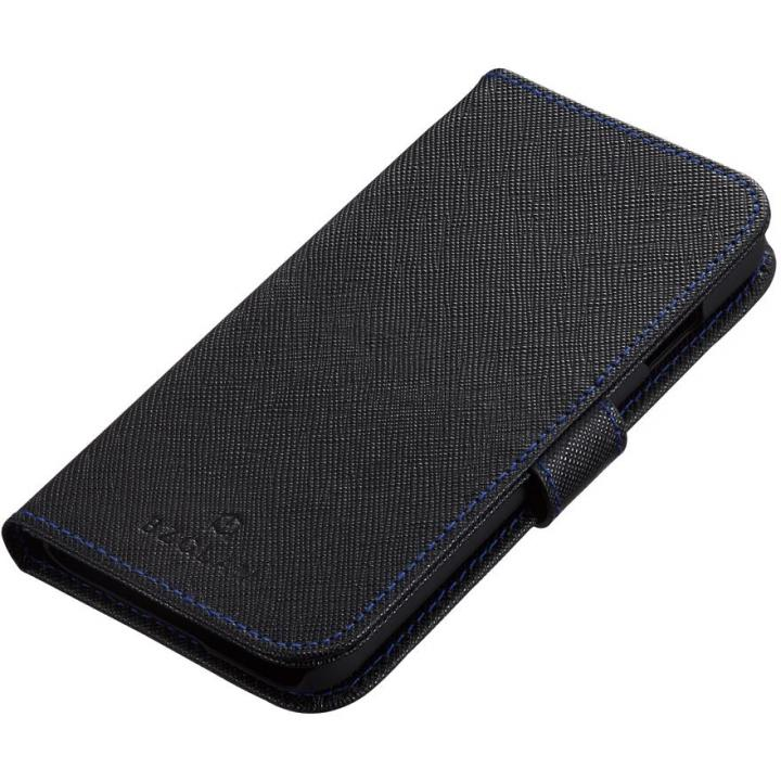 iPhone6s ケース BZGLAM 手帳型レザーケース ブラックブルー iPhone 6s_0