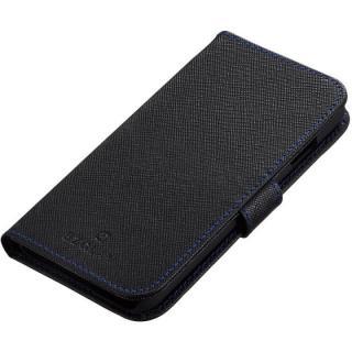BZGLAM 手帳型レザーケース ブラックブルー iPhone 6s