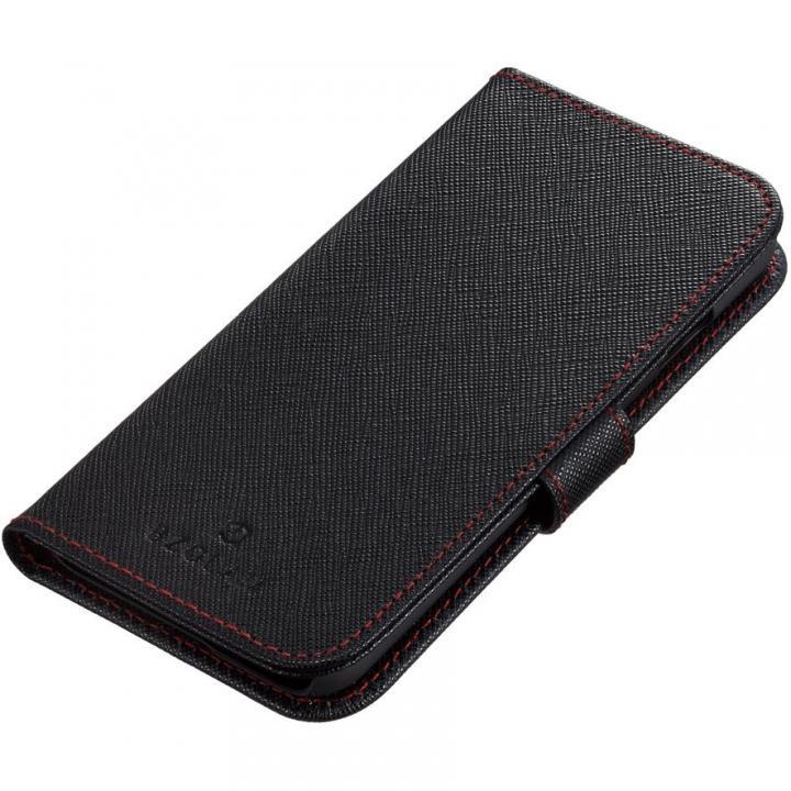 iPhone6s ケース BZGLAM 手帳型レザーケース ブラックレッド iPhone 6s_0