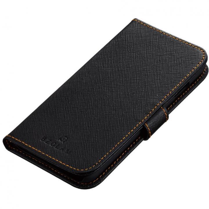 BZGLAM 手帳型レザーケース ブラックオレンジ iPhone 6s