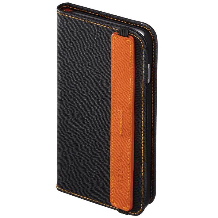 BZGLAM ホールドベルト付き手帳型レザーケース ブラック iPhone 6s Plus