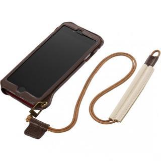 BZGLAM ネックストラップ付レザーケース ブラウン iPhone 6s