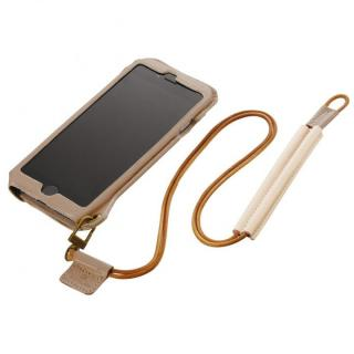 BZGLAM ネックストラップ付レザーケース アイボリー iPhone 6s