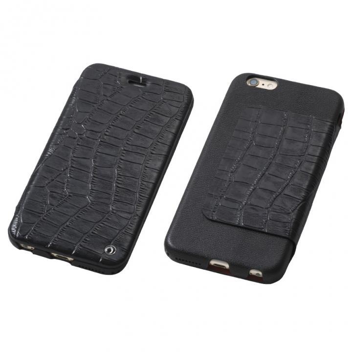 Deff Luxury 天然レザー手帳型ケース ブラック iPhone 6s Plus/6 Plus