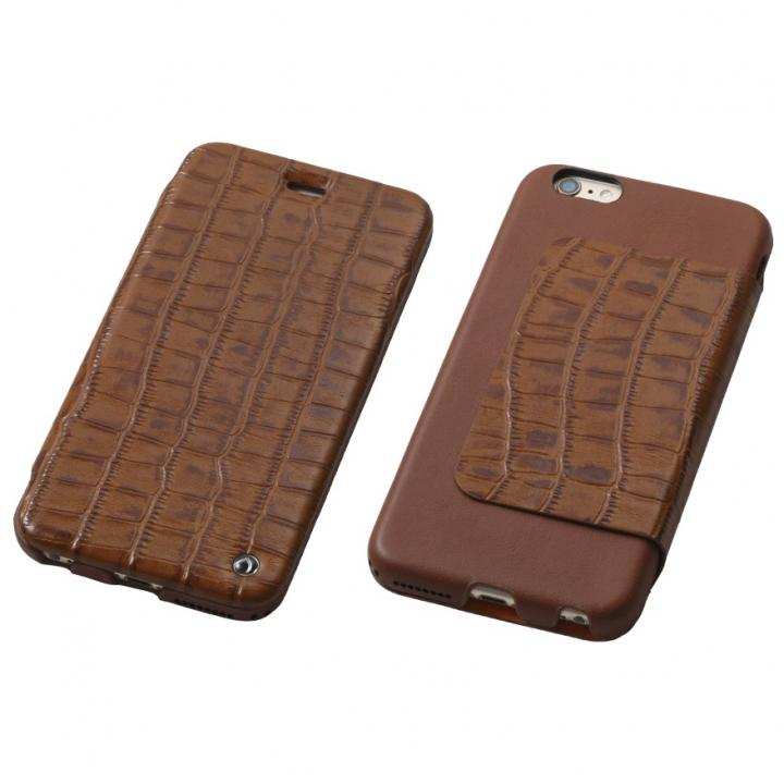 iPhone6s Plus/6 Plus ケース Deff Luxury 天然レザー手帳型ケース ブラウン iPhone 6s Plus/6 Plus_0