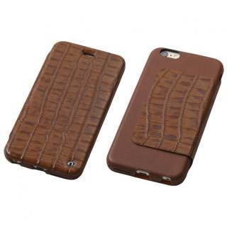 【iPhone6s Plus/6 Plusケース】Deff Luxury 天然レザー手帳型ケース ブラウン iPhone 6s Plus/6 Plus
