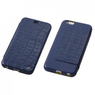 Deff Luxury 天然レザー手帳型ケース ミッドナイトブルー iPhone 6s Plus/6 Plus