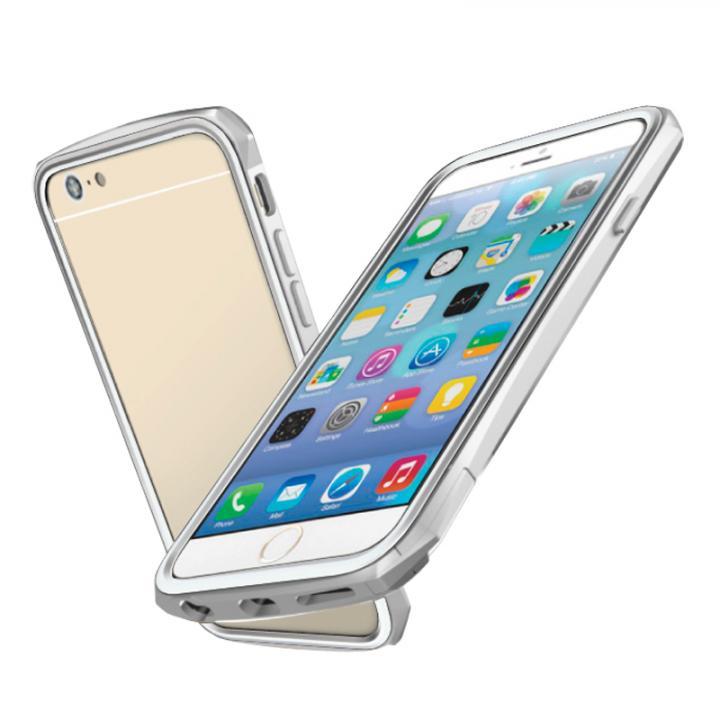 工具不要 かんたん着脱バンパー ODOYO BLADE EDGE シルバー iPhone 6バンパー