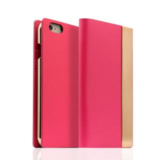 SLG Design メタルデザインレザー手帳型ケース ピンク iPhone 6s/6