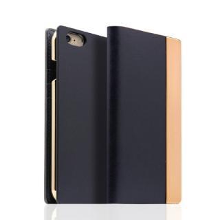 SLG Design メタルデザインレザー手帳型ケース ネイビー iPhone 6s/6