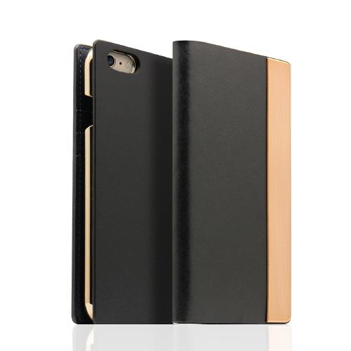 iPhone6s/6 ケース SLG Design メタルデザインレザー手帳型ケース ブラック iPhone 6s/6_0