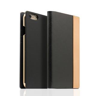 SLG Design メタルデザインレザー手帳型ケース ブラック iPhone 6s/6