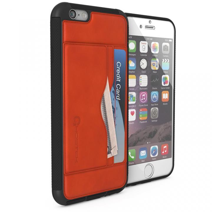 iPhone6s/6 ケース 強化ガラス付きPUレザーケース Ghostek Stash ブラウン iPhone 6s/6_0