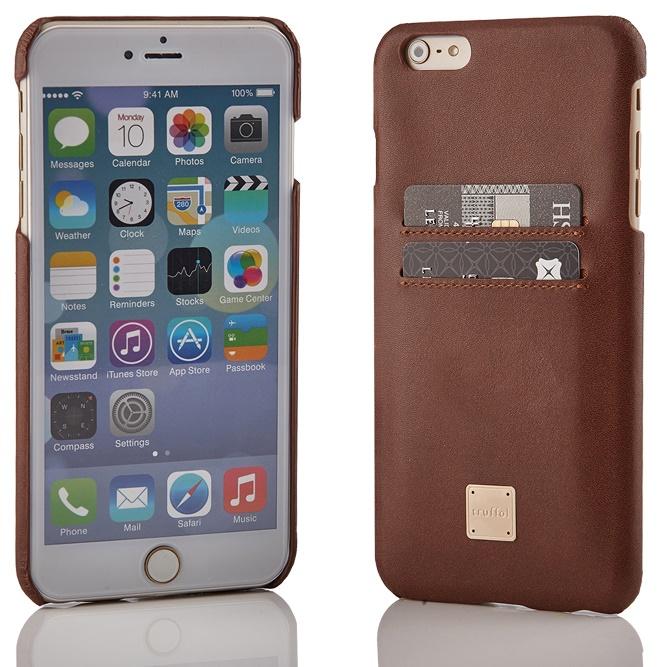 [2017年歳末特価]truffol ICカード対応 カウハイドレザーケース ブラウン iPhone 6s Plus/6 Plus