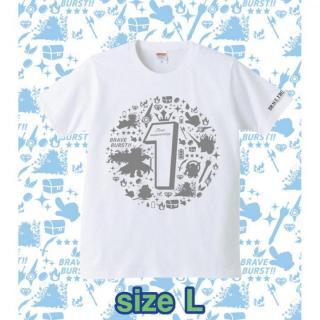 ブレイブフロンティア1周年記念Tシャツ(ホワイト×グレー)Lサイズ