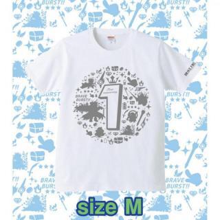 ブレイブフロンティア1周年記念Tシャツ(ホワイト×グレー)Mサイズ