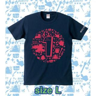 ブレイブフロンティア1周年記念Tシャツ(ネイビー×ピンク)Lサイズ