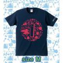 ブレイブフロンティア1周年記念Tシャツ(ネイビー×ピンク)Mサイズ