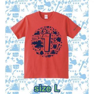 ブレイブフロンティア1周年記念Tシャツ(フレンチレッド×ネイビー)Lサイズ