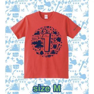 ブレイブフロンティア1周年記念Tシャツ(フレンチレッド×ネイビー)Mサイズ