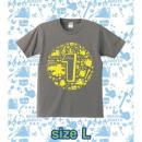 ブレイブフロンティア1周年記念Tシャツ(チャコールグレー×イエロー)Lサイズ