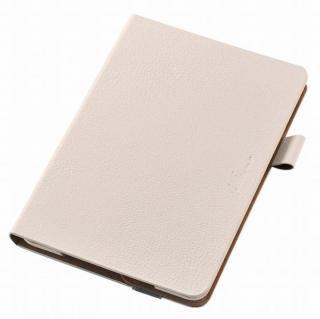 360度回転スタンド ソフトレザーケース ホワイト iPad mini 4