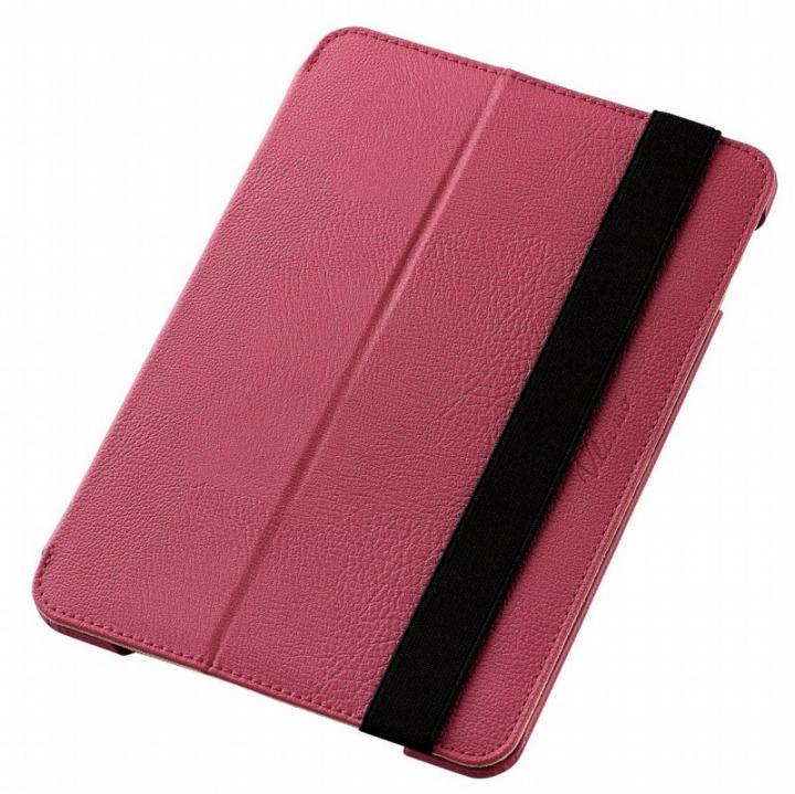 2アングルスタンド ソフトレザーケース ピンク iPad mini 4_0
