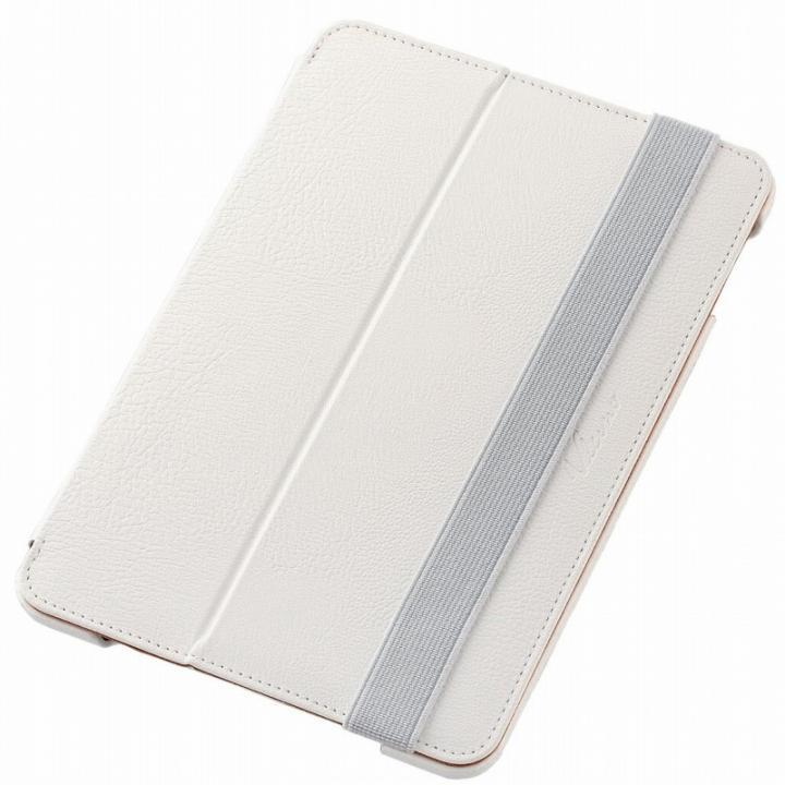 2アングルスタンド ソフトレザーケース ホワイト iPad mini 4_0