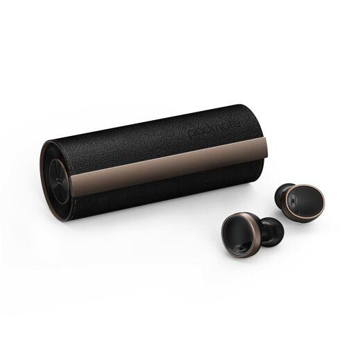 完全ワイヤレスイヤホン PaMuScroll Plus ワイヤレス充電レシーバー Black Leather_0