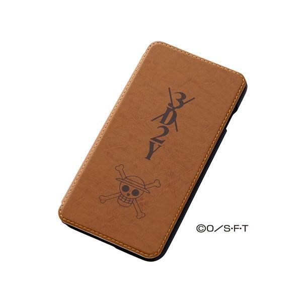 ワンピース 手帳型合成皮ケース シルク印刷 ルフィ iPhone 6 Plusケース