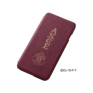 ワンピース 手帳型合成皮ケース シルク印刷 エース iPhone 6 Plusケース