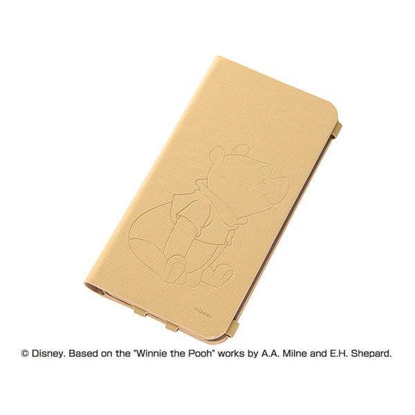 iPhone6 Plus ケース ディズニー テクスチャー 手帳型合成皮ケース プー iPhone 6 Plusケース_0
