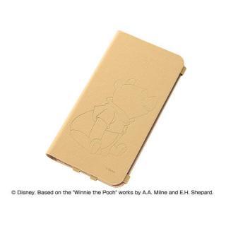 【10月上旬】ディズニー テクスチャー 手帳型合成皮ケース プー iPhone 6 Plusケース