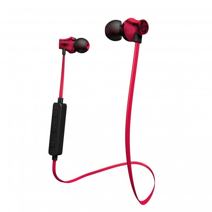 Bluetooth対応アルミタイプ高音質イヤホンマイク レッド_0