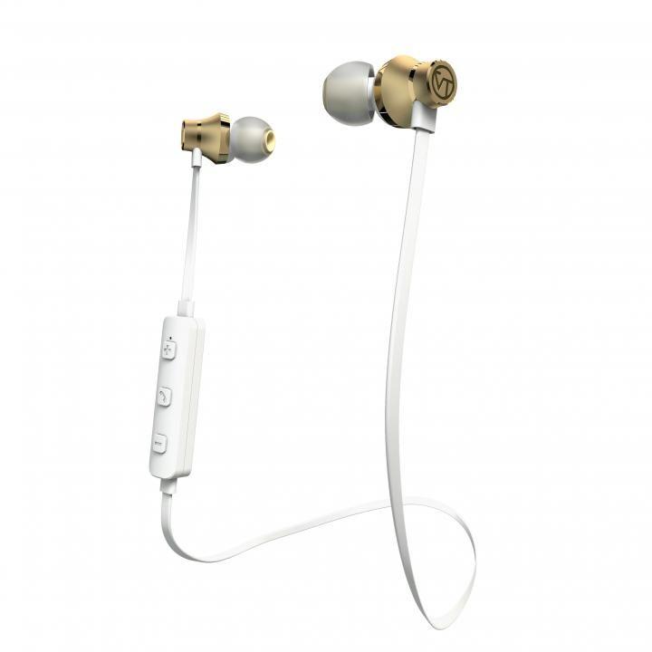 Bluetooth対応アルミタイプ高音質イヤホンマイク シャンパンゴールド