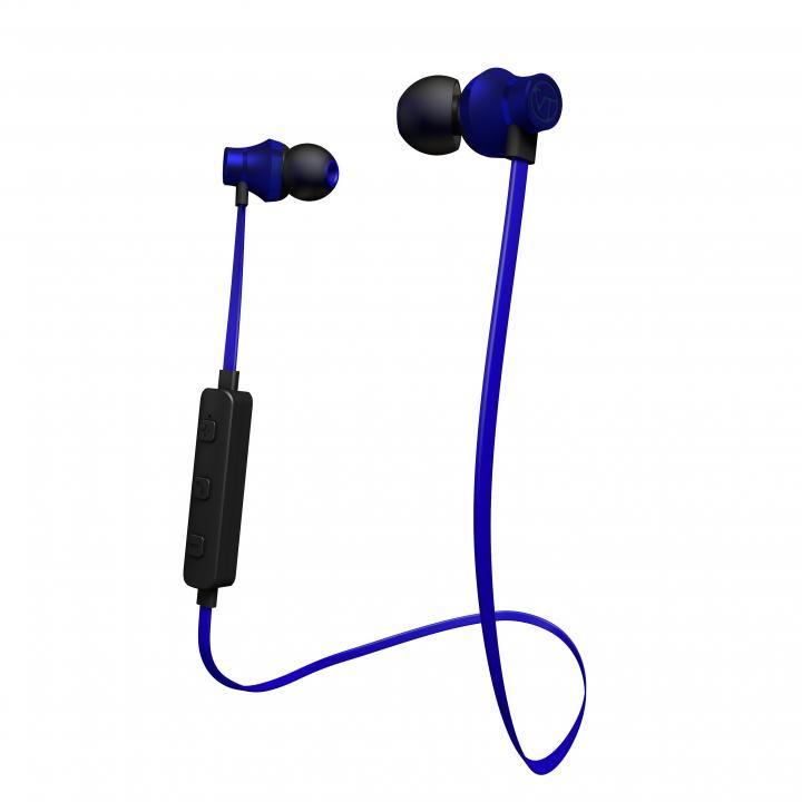 Bluetooth対応アルミタイプ高音質イヤホンマイク ダークブルー_0
