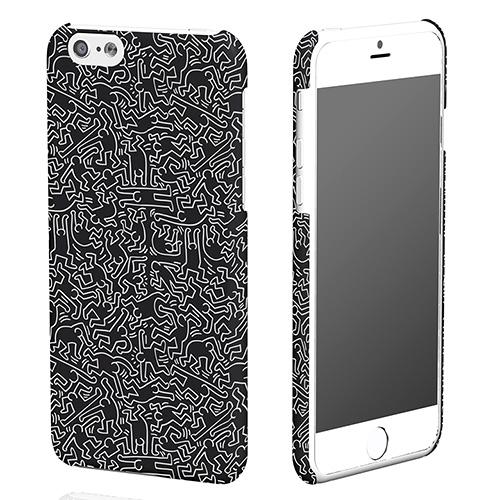 【iPhone6ケース】キース・へリング コレクション ハードケース ピープル/ブラック x ホワイト iPhone 6ケース_0